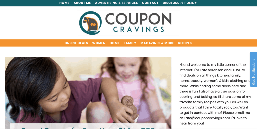 Coupon Cravings Website