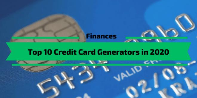Top 10 Credit Card Generators in 2020