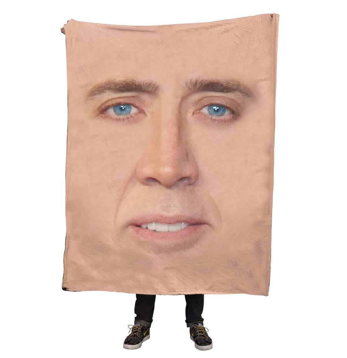 Nicolas Cage Face Blanket